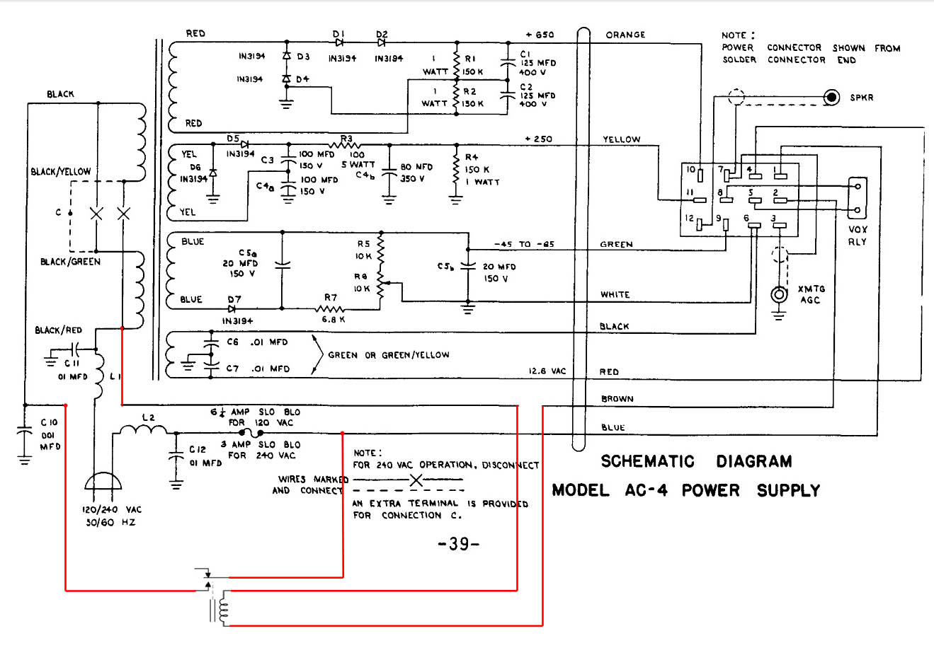 wiring multiple schematics together wiring 4 schematics drake ac-4 power supply rebuild